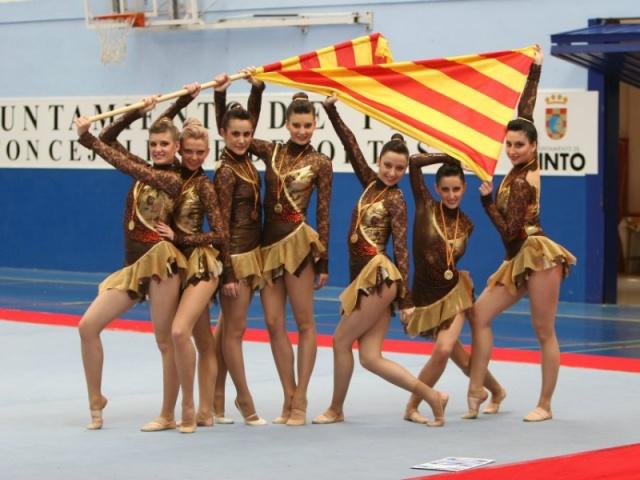 Galeria: Equip Gimnàstica Estètica 2007-2008 Club Esportiu INEF Barcelona
