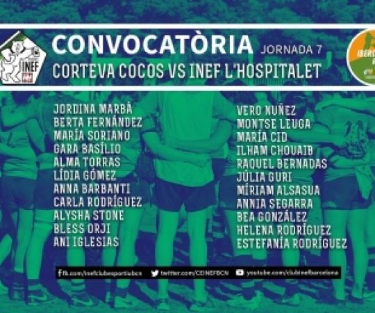 CONVOCATÒRIA: Corteva Cocos Rugby vs INEF-L'Hospitalet, J7 Lliga Iberdrola